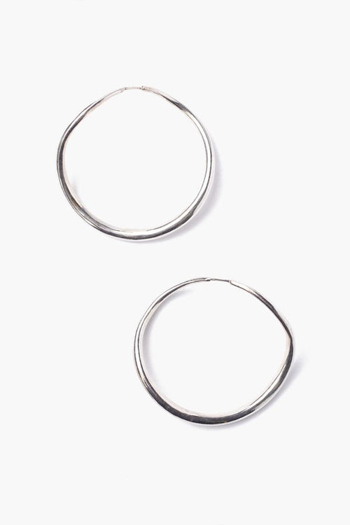 Silver Standard Infinity Hoop Earrings