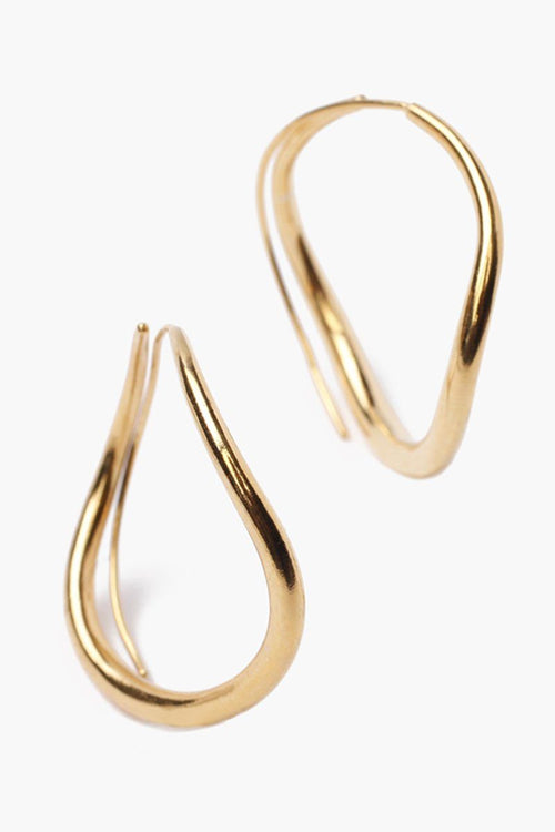 Gold Grande Infinity Hoop Earrings