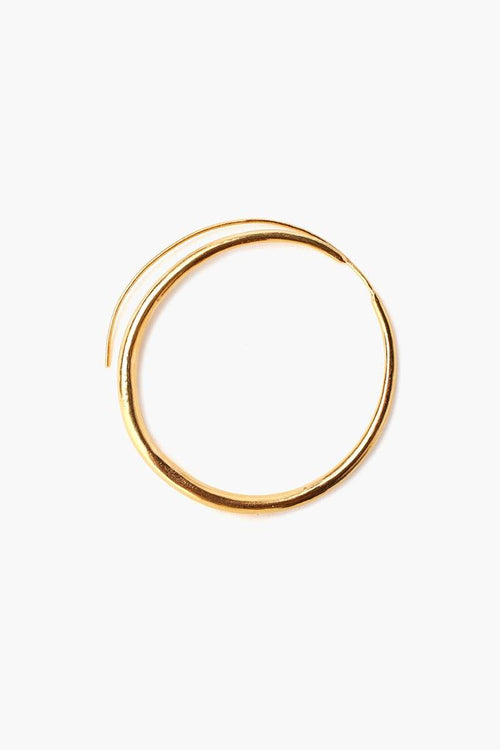 Gold Standard Oblong Hoop Earrings