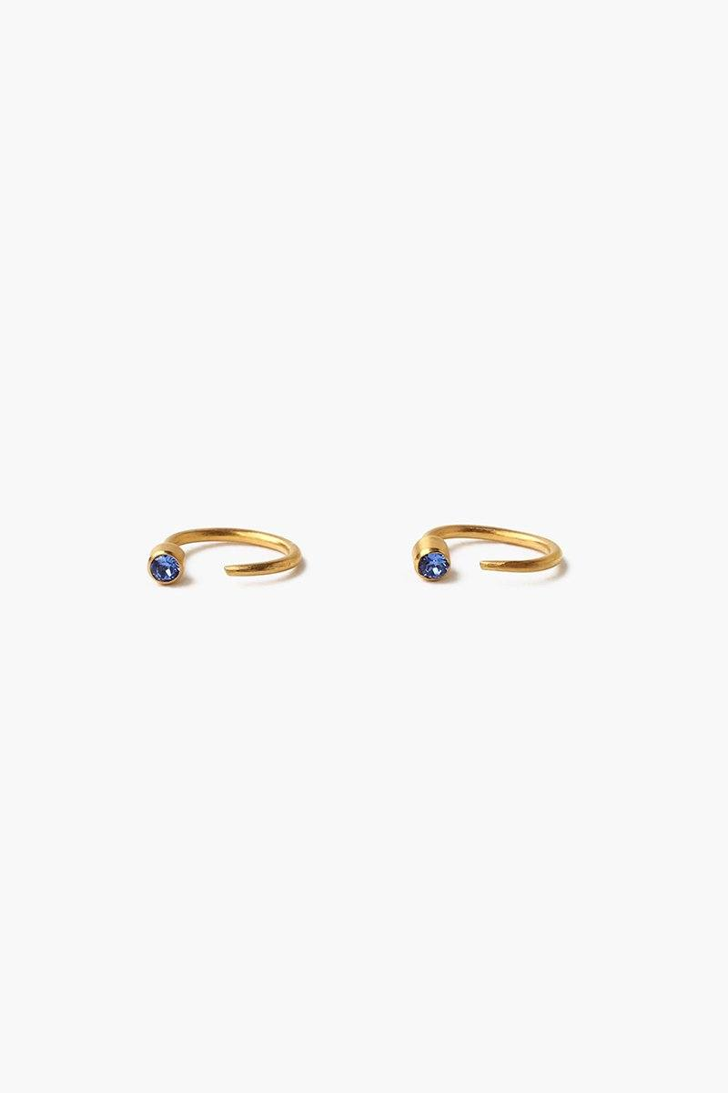 September Sapphire Birthstone Hook Earrings