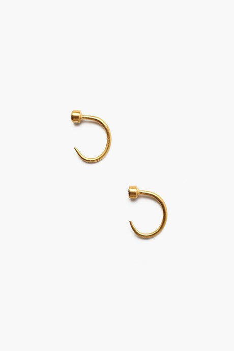 January Siam Birthstone Hook Earrings