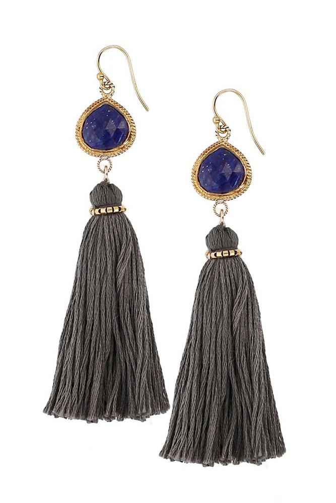 Lapis Tassel Earrings