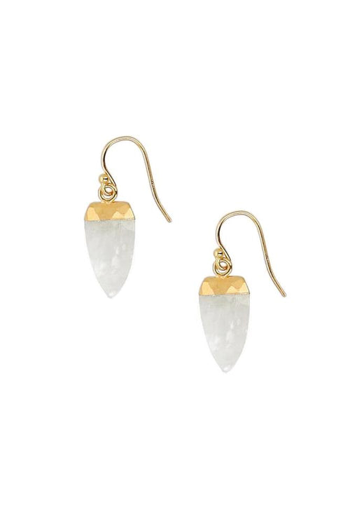 Moonstone Slice Earrings