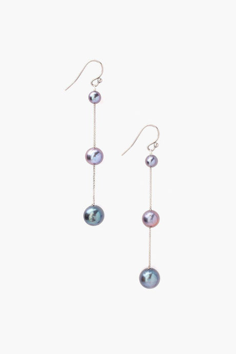Tiered Floating Peacock Pearl Earrings