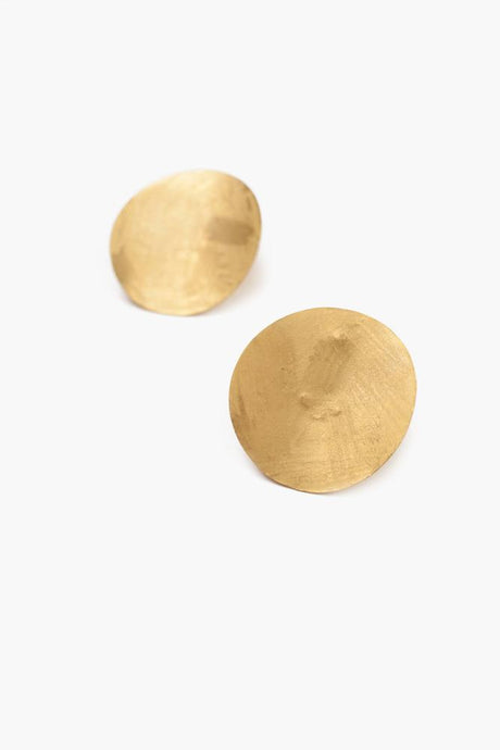 Yellow Gold Coin Earrings