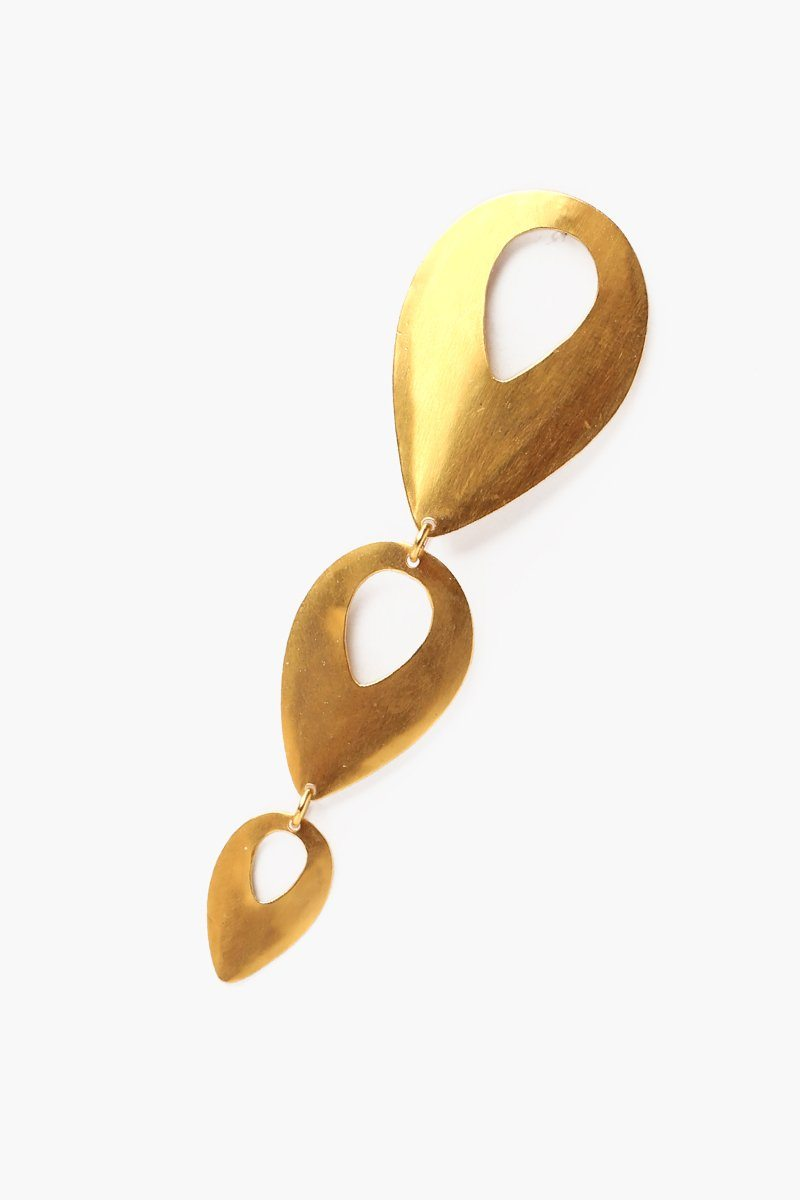 Yellow Gold Tiered Picasso Earrings