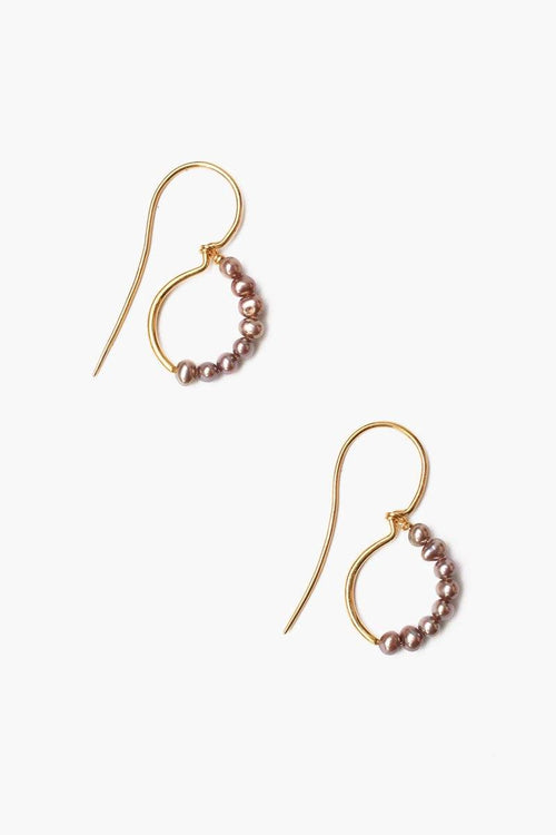 Taupe Freshwater Pearl Drop Earrings (Pre-Order)