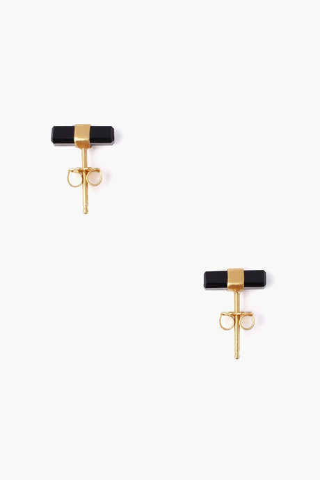 Onyx Baguette Stud Earrings