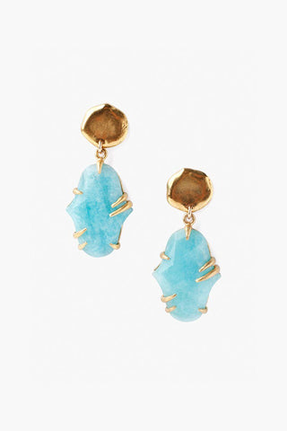 Two Tiered Pronged Amazonite Earrings