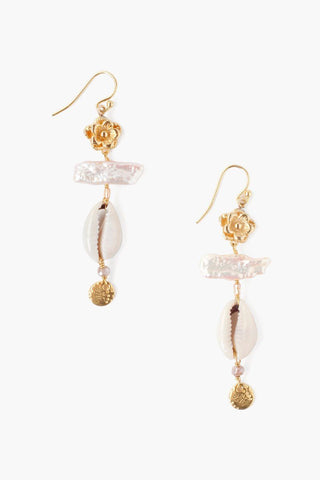 Sepia and Silver Ball Charm Earrings