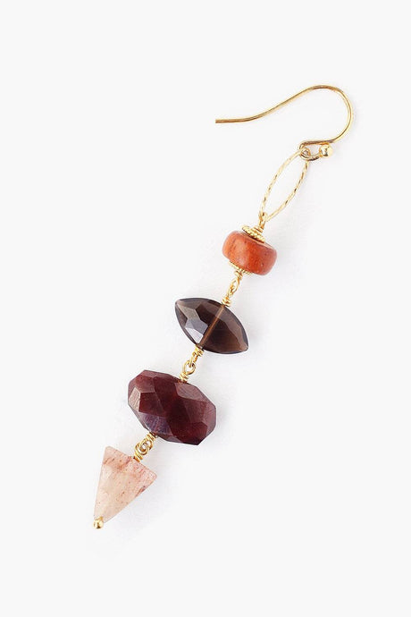 Tiered Garnet Mix Atlantis Earrings