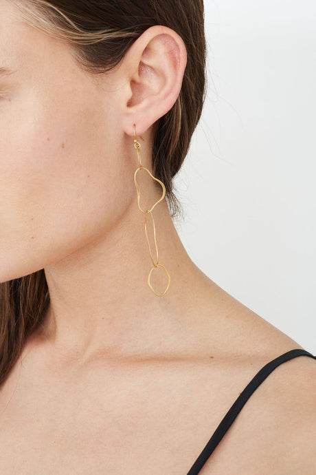 Gold Interlocking Matisse Earrings