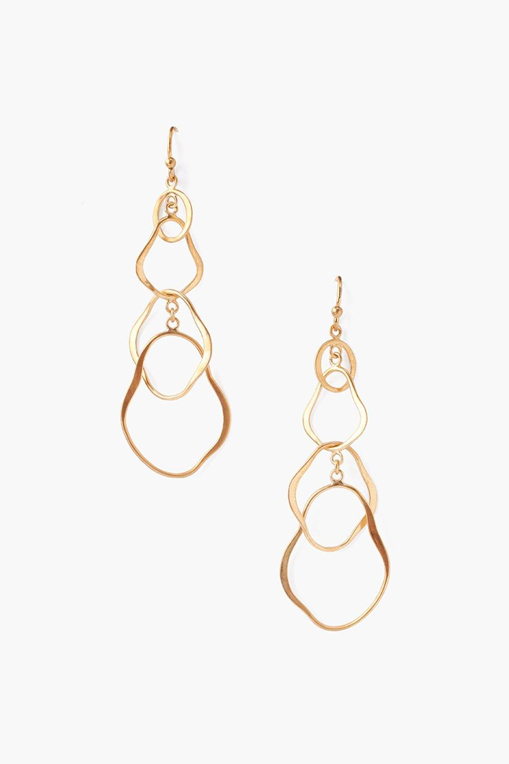 Yellow Gold Tiered Matisse Earrings