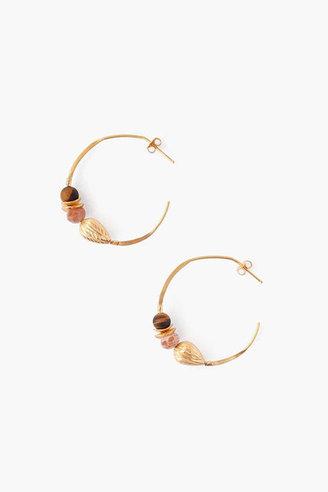 Sunstone Mix Hoop Earrings