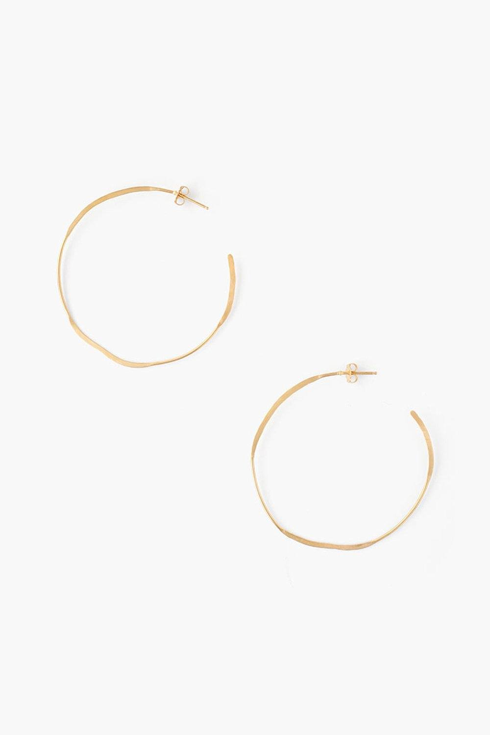 Yellow Gold Hammered Earrings