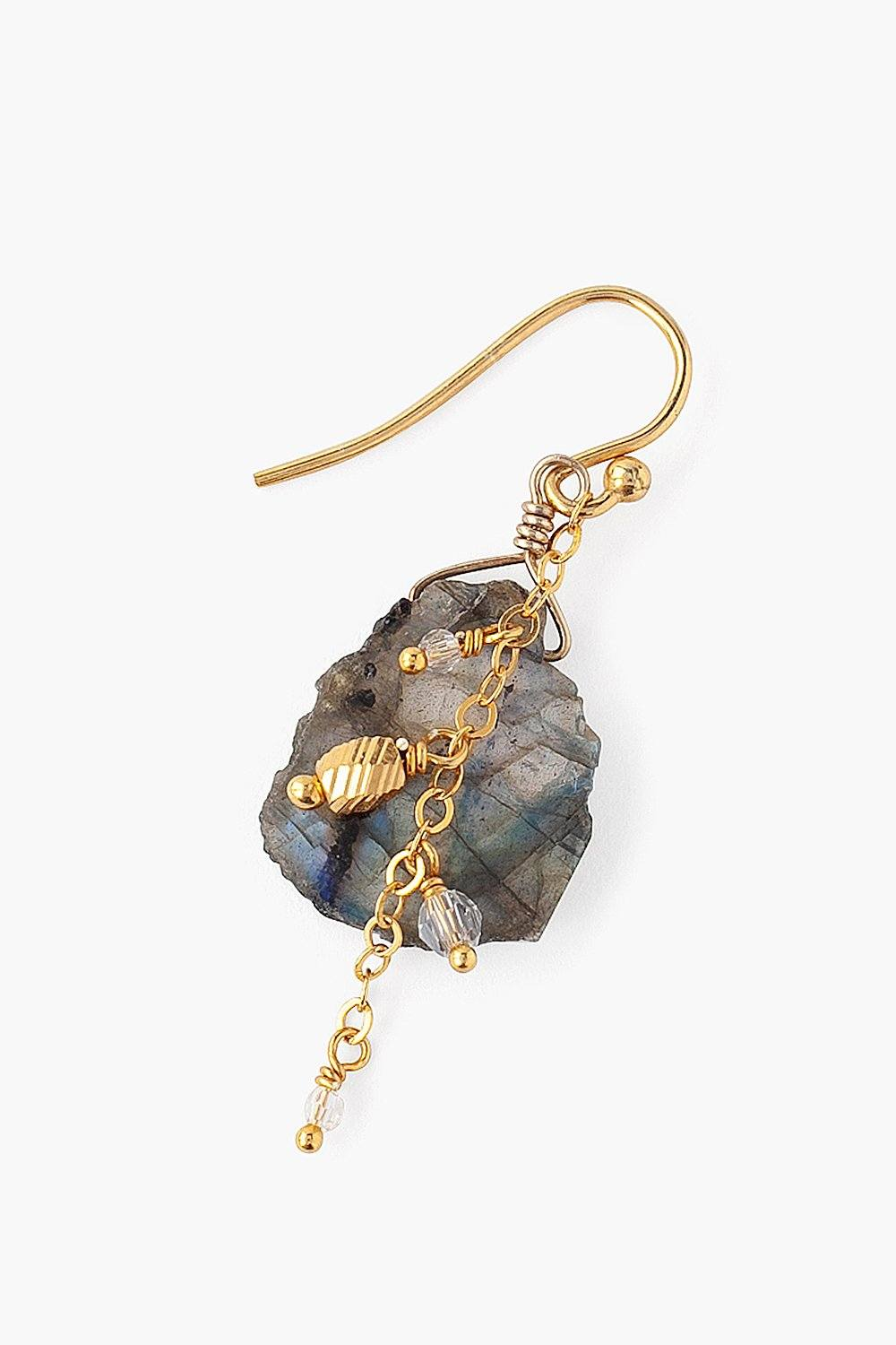 Sliced Labradorite Earrings