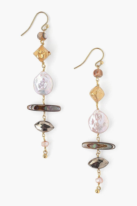 Tiered Pink Pearl Mix Earrings