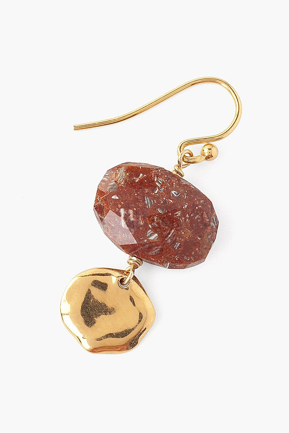 Tiered Red Zebra Jasper Earrings