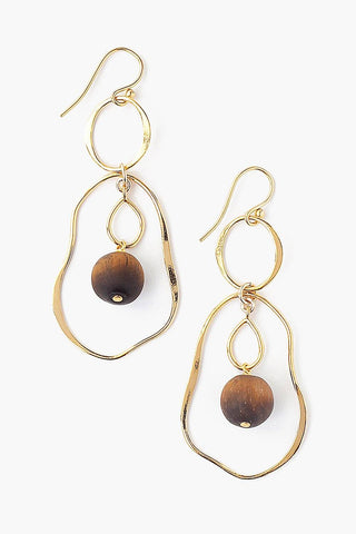Tiered Matte Tiger's Eye Matisse Earrings
