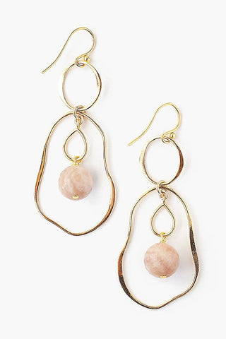 Tiered Matte Sunstone Matisse Earrings