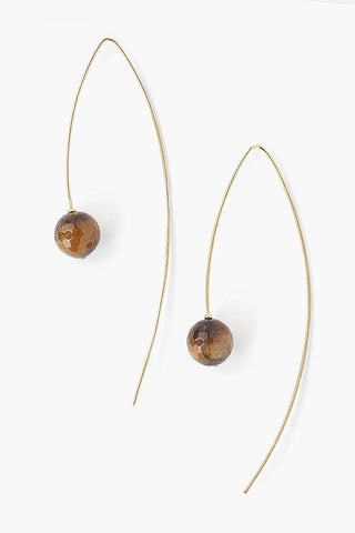Tiger's Eye Thread Thru Earrings