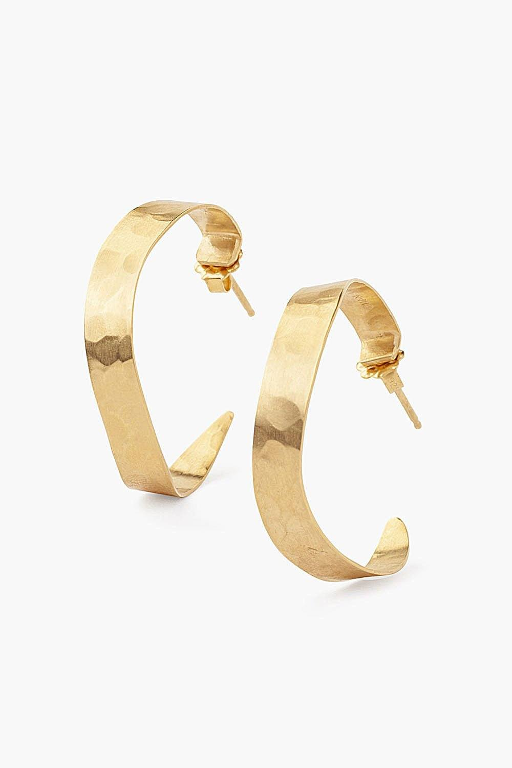 Gold Sabre Standard Hoop Earrings