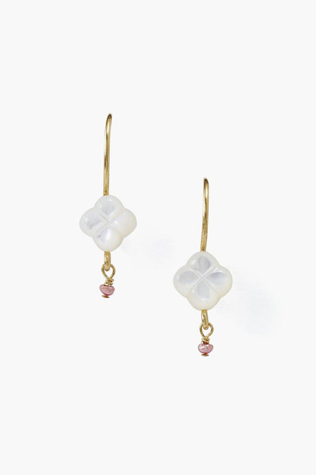 White Primrose Earrings