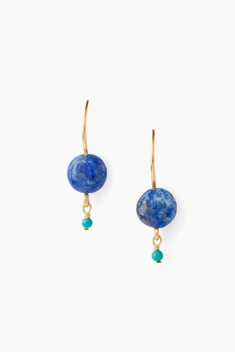 Lapis Coin Earrings