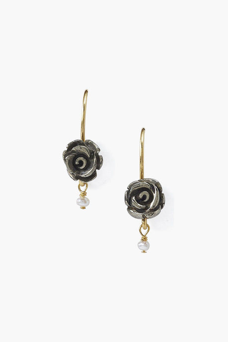 Pyrite Rose Earrings