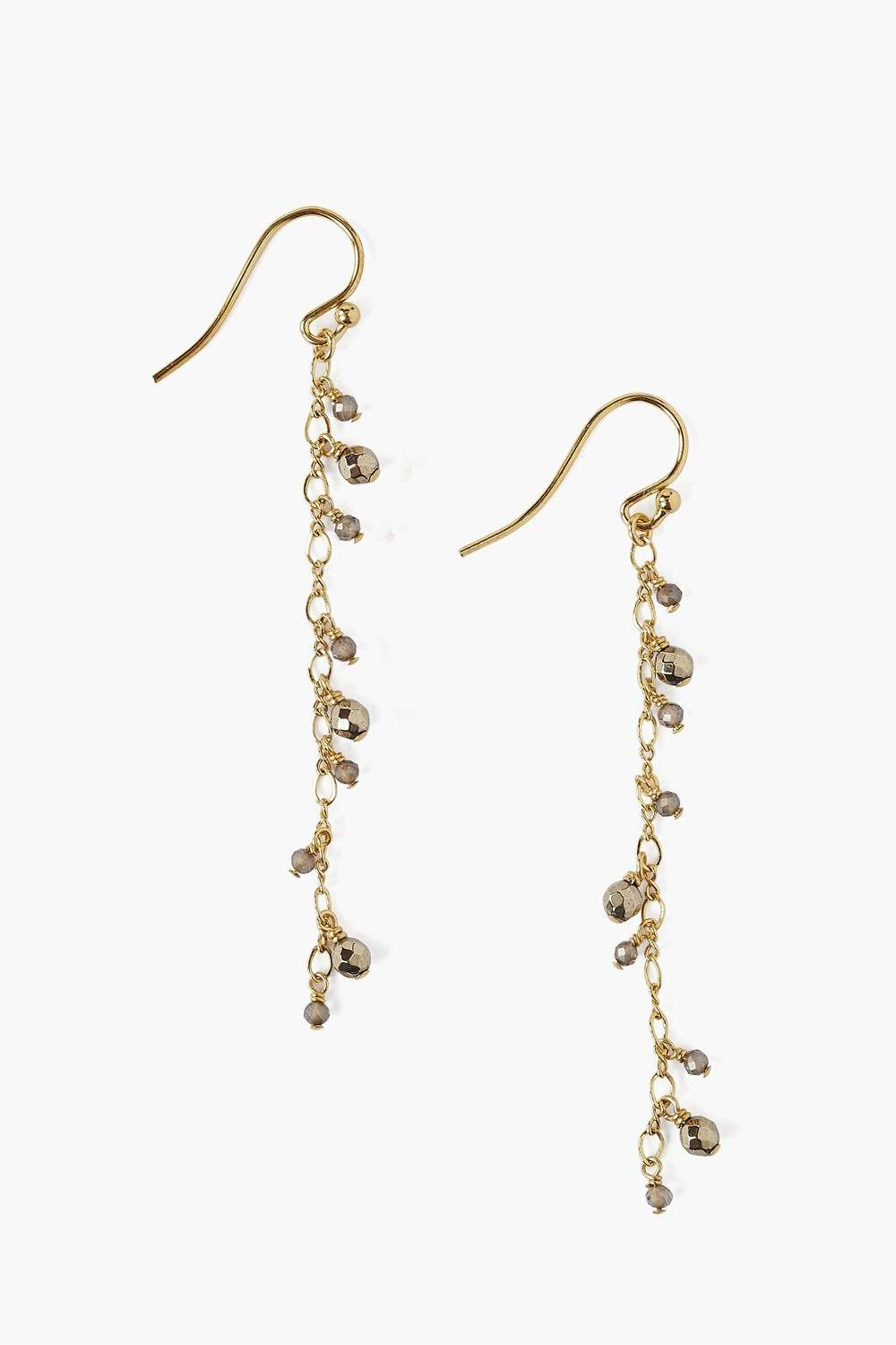 Pyrite Cascading Earring