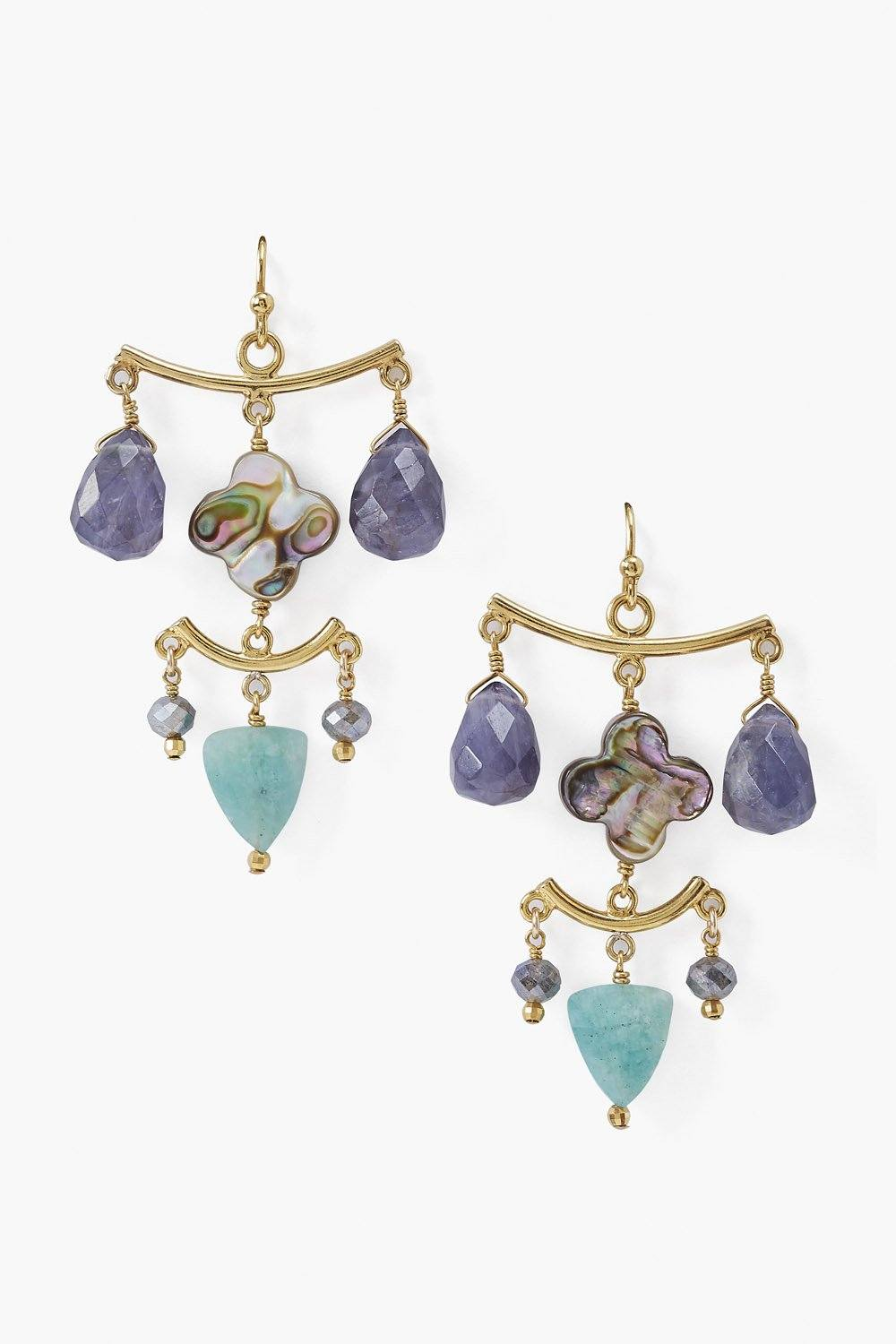 Iolite Chandelier Earrings
