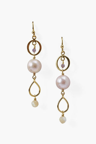 Pink Pearl Tiered Earring