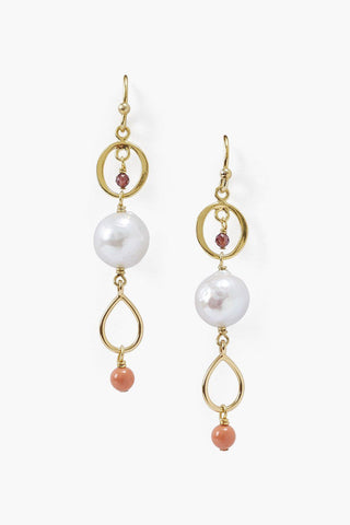 White Pearl Tiered Earring