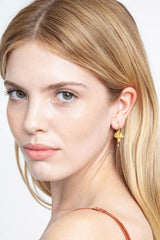 Golden Bee Drop Earrings