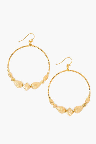 Gold Graduated Hoop Earrings