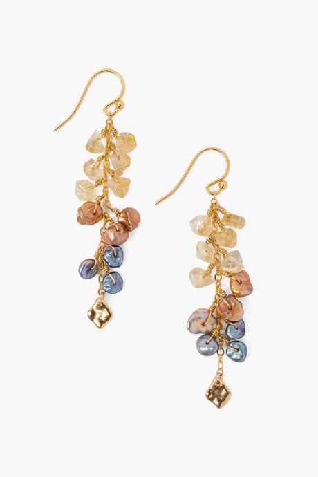 Multi Pearl Cascading Earrings
