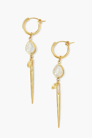Moonstone Dagger Earrings