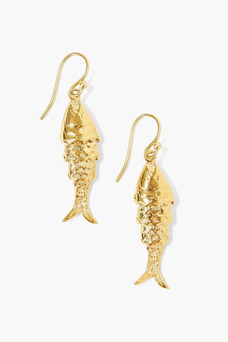 Gold Lucky Koi Earrings