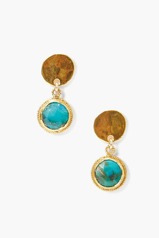 Tiered Turquoise Coin Earring