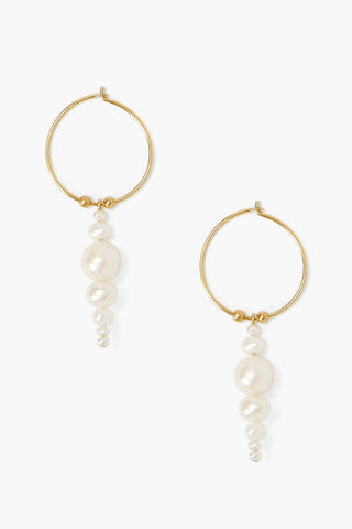 White Pearl Jubilee Earrings