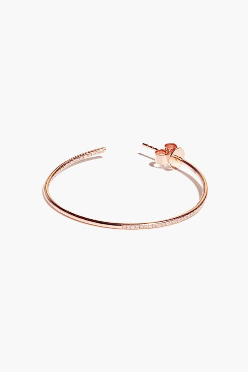 White Diamond Rose Gold Large Hoop Earrings (Pre-Order)