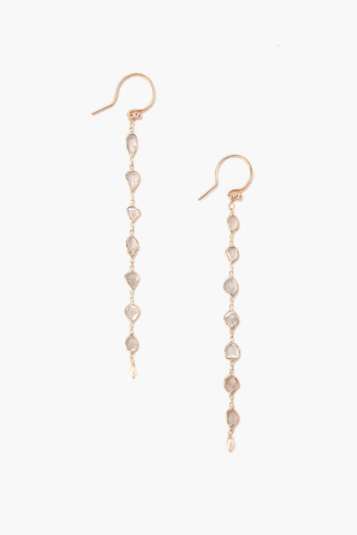 Tiered Sliced Champagne Diamond Earrings