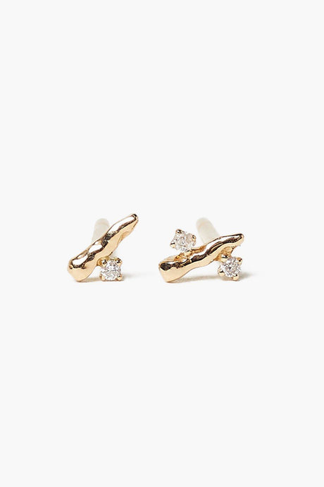 14k Gold Diamond Bud Earrings