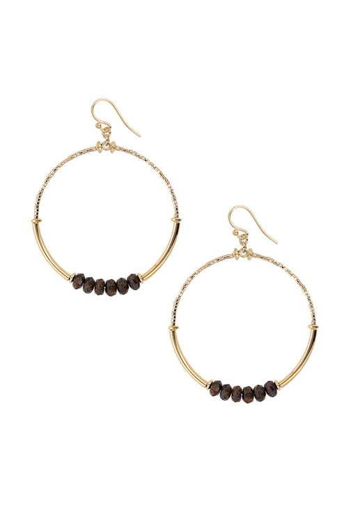 Bronzite Hoop Earrings