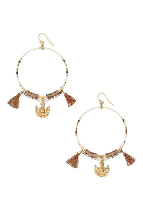 Natural Mix Statement Hoop Earrings