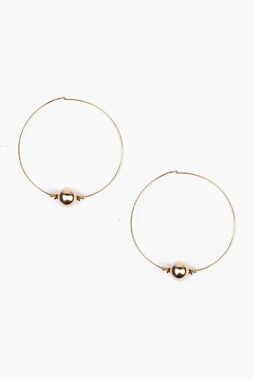 Gold Toned Hoop Earrings
