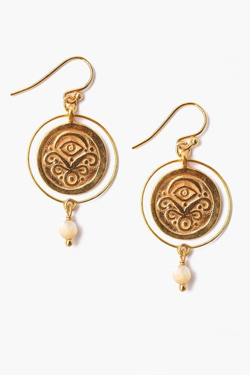 Natural Coin Earrings (Pre-Order)