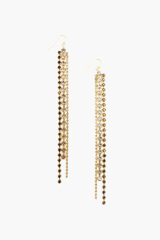 Hypersthene Small Bullet Dangle Earrings
