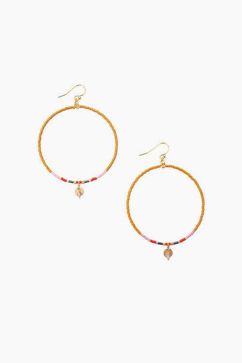 Pumpkin Mix Hoop Earrings