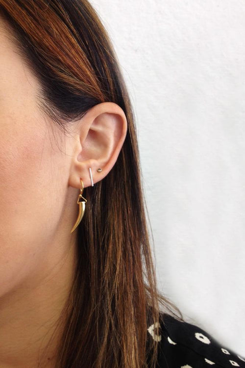 Yellow Gold Horn Earrings